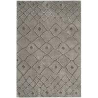 Safavieh Sparta Shag Contemporary Geometric Polyester Grey/ Grey Area Rug - 4' x 6'