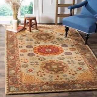 Safavieh Heritage Traditional Oriental Hand-Tufted Wool Beige/ Multi Area Rug - 6' x 9'