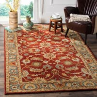 Safavieh Heritage Traditional Oriental Hand-Tufted Wool Red/ Blue Area Rug - 6' x 9'