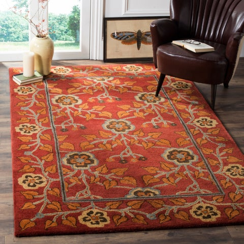Safavieh Heritage Traditional Oriental Hand-Tufted Wool Red/ Multi Area Rug - 6' x 9'