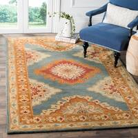 Safavieh Heritage Traditional Oriental Hand-Tufted Wool Blue/ Rust Area Rug (6' x 9')