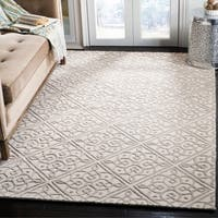 Safavieh Cambridge Transitional Geometric Hand-Tufted Wool Ivory/ Grey Area Rug - 5' x 8'