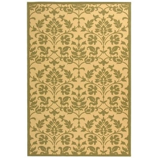 Safavieh Courtyard Contemporary Geometric Indoor/ Outdoor Natural/ Olive Area Rug (5'3 x 7'7)