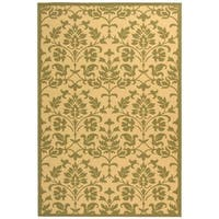 Safavieh Courtyard Contemporary Geometric Indoor/ Outdoor Natural/ Olive Area Rug - 5'3 x 7'7