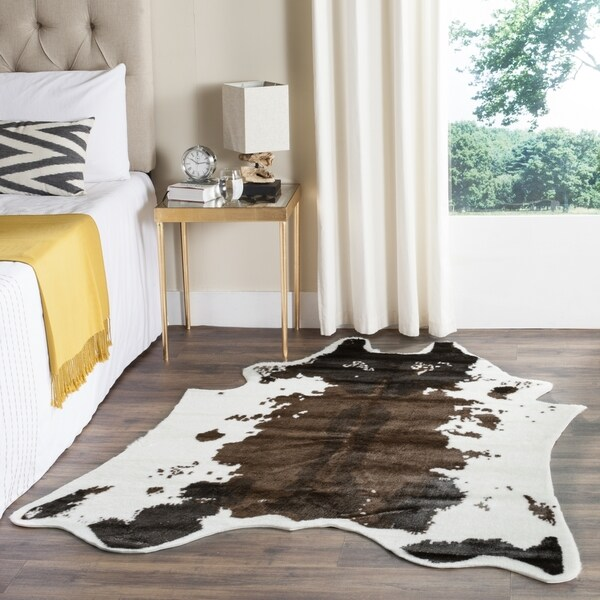 Shop Safavieh Faux Cow Hide Contemporary Animal Faux