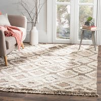 Safavieh Kenya Transitional Geometric Hand-Knotted Wool Natural Area Rug - 5' X 8'