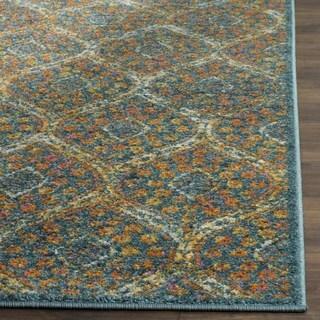 Safavieh Madison Latina Vintage Boho Oriental Rug (67 x 67 Square - Blue/Orange)