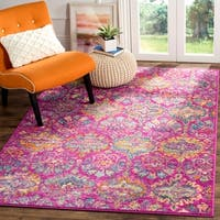 Safavieh Madison Bohemian Geometric Fuchsia/ Blue Area Rug (5'1 x 7'6)