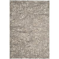 "Safavieh Meadow Modern Abstract Beige/ Grey Area Rug - 6'7"" x 9'"