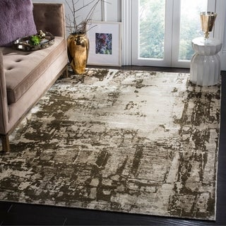 Safavieh Handmade Mirage Modern Abstract Brown/ Silver Viscose Area Rug (6' x 9')