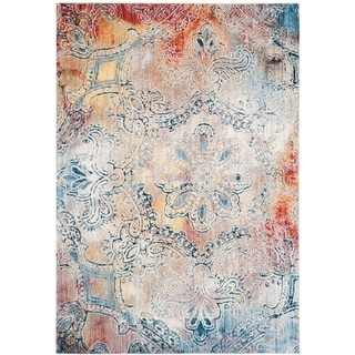 Safavieh Monray Annliese Modern Abstract Polyester Rug (51 x 76 - Red/Multi)