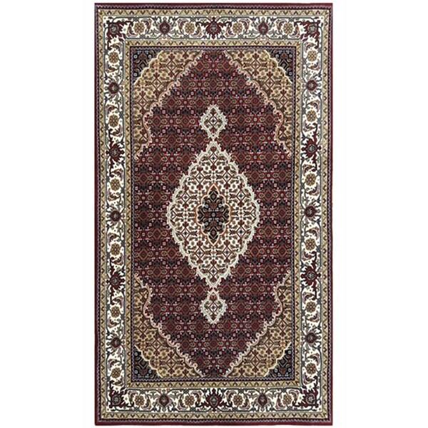 Indo Persian Tabriz Wool Area Rug: Shop Handmade Herat Oriental Indo Mahi Tabriz Wool Rug
