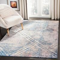 Safavieh Monray Modern Abstract Polyester Blue/ Multi Area Rug - 6' x 9'
