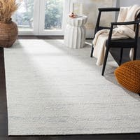 Safavieh Marbella Contemporary Abstract Hand-Woven Polyester Light Blue/ Ivory Area Rug - 6' x 9'