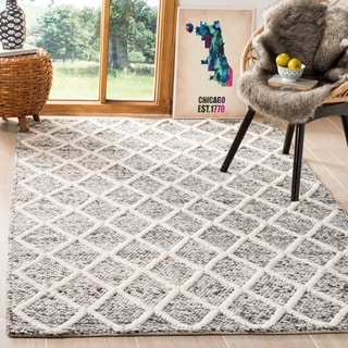 Safavieh Natura Transitional Geometric Hand-Tufted Wool Ivory/ Black Area Rug (5' x 8')