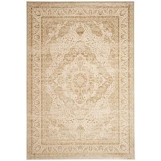 Safavieh Noble Transitional Oriental Viscose Light Beige/ Cream Area Rug (5'1 x 7'6)