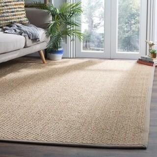 Safavieh Natural Fiber Contemporary Jute Natural/ Grey Area Rug (6' x 9')
