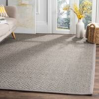 Safavieh Natural Fiber Contemporary Geometric Jute Light Grey/ Grey Area Rug - 5' X 8'