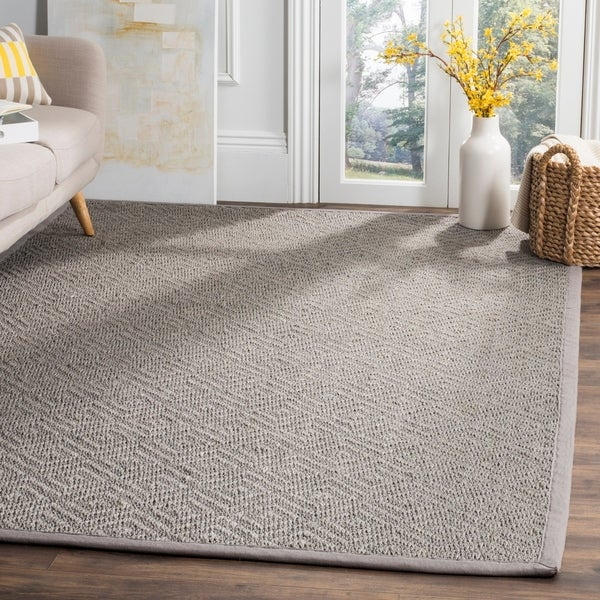 Safavieh Natural Fiber Contemporary Geometric Jute Light Grey/ Grey Area Rug - 6' X 9'