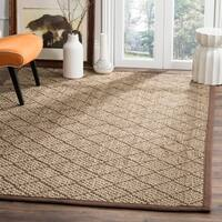 Safavieh Natural Fiber Contemporary Geometric Jute Natural/ Brown Area Rug - 5' x 8'