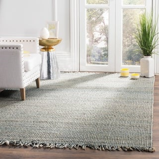 Safavieh Natural Fiber Coastal Hand-woven Jute Blue Area Rug (5' x 8')