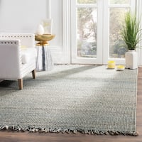Safavieh Natural Fiber Coastal Hand-woven Jute Blue Area Rug - 5' x 8'