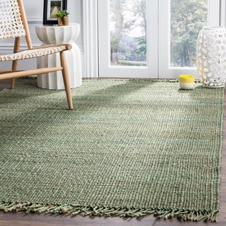 Safavieh Natural Fiber Coastal Hand-woven Jute Green Area Rug (5' x 8')