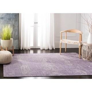 Safavieh Palazzo Light Grey Anthracite/ Purple Chenille Area Rug - 5' x 8'