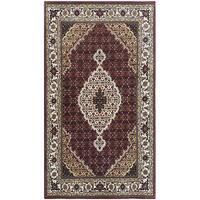 Handmade Herat Oriental Indo Mahi Tabriz Wool Rug - 5'6 x 8' (India)