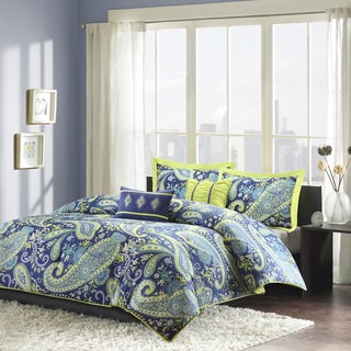 Intelligent Design Rachelle 5-piece Twin/ Twin XL Size Comforter Set in Blue(As Is Item)