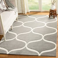 Safavieh Cambridge Transitional Geometric Hand-Tufted Wool Dark Grey/ Ivory Area Rug - 8' x 10'