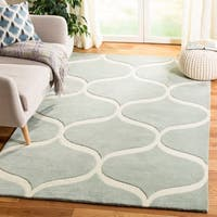 Safavieh Cambridge Transitional Geometric Hand-Tufted Wool Grey/ Ivory Area Rug - 8' x 10'