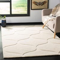 Safavieh Cambridge Transitional Geometric Hand-Tufted Wool Ivory/ Ivory Area Rug - 8' x 10'
