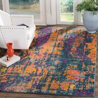 Safavieh Madison Bohemian Abstract Ivory/ Blue Area Rug (8' x 10')