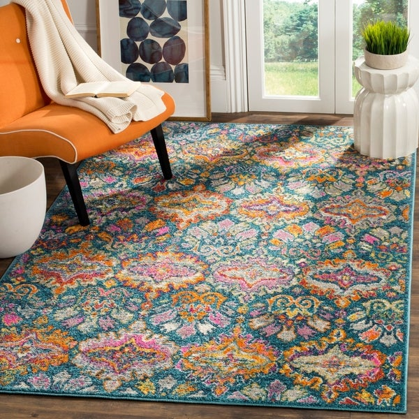Shop Safavieh Madison Bohemian Geometric Blue Orange Area