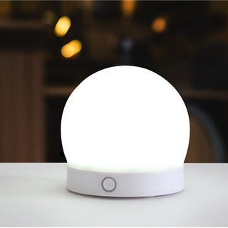 Round Silicone LED Night Light Colorful Home Decoration Lamp Button Control USB Charging Bedside Light
