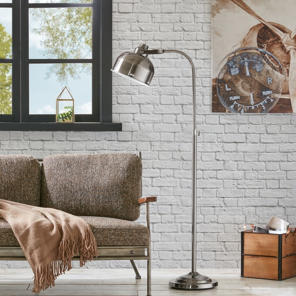 INK+IVY Tribecca Dark Grey Floor Lamp