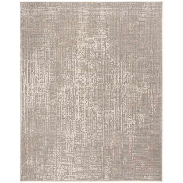 Shop Safavieh Meadow Modern Abstract Ivory Grey Area Rug