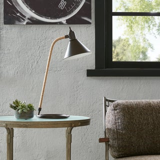 INK+IVY Kirkham Black Table Lamp