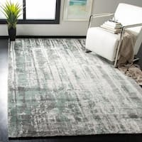 Safavieh Handmade Mirage Modern Abstract Grey/ Yellow Viscose Area Rug - 9' x 12'