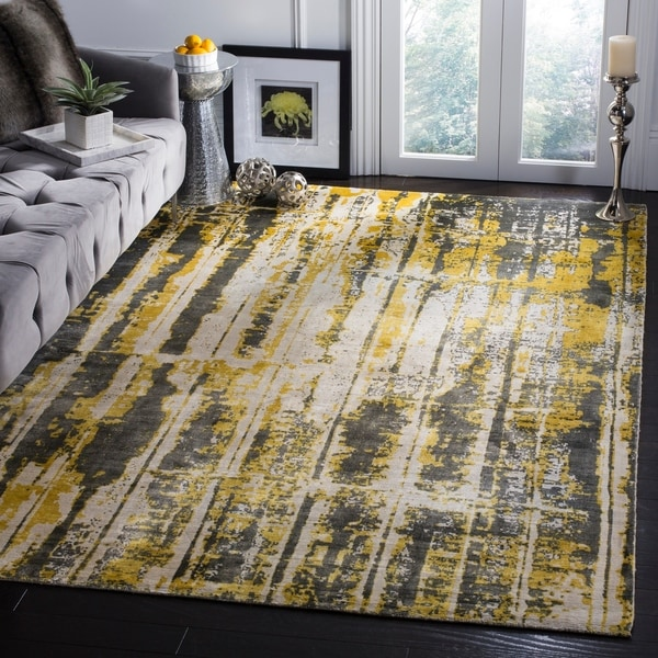 Shop Safavieh Handmade Mirage Modern Abstract Grey Yellow