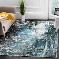 Safavieh Handmade Mirage Modern Abstract Blue/ Grey Viscose Area Rug - 9' x 12'