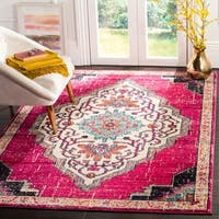 Safavieh Monaco Contemporary Oriental Pink/ Multi Area Rug - 9' X 12'