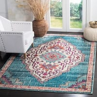 Safavieh Monaco Contemporary Oriental Blue/ Multi Area Rug - 8' x 10'