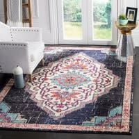 Safavieh Monaco Contemporary Oriental Black/ Blue Area Rug - 8' x 10'