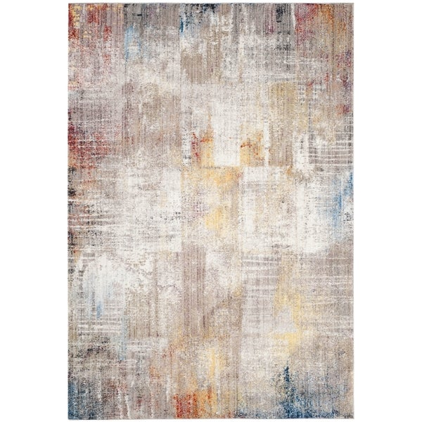 Shop Safavieh Monray Modern Abstract Polyester Grey Gold