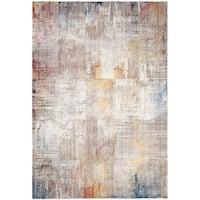 Safavieh Monray Modern Abstract Polyester Grey/ Gold Area Rug - 9' x 12'
