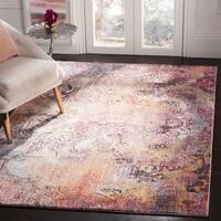 Safavieh Monray Modern Abstract Polyester Red/ Multi Area Rug - 8' x 10'