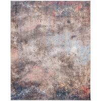 Safavieh Monray Modern Abstract Polyester Blue/ Multi Area Rug - 8' x 10'