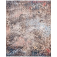 Safavieh Monray Modern Abstract Polyester Blue/ Multi Area Rug - 9' x 12'